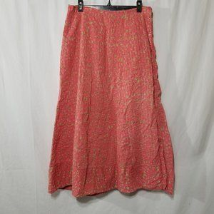 April Cornell maxi pink with floral print skirt